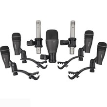 Samson 7-piece Drum Mic Kit Instrument Recording Condenser Full-range Microphone Package For Professional Drummers Dk707 SET