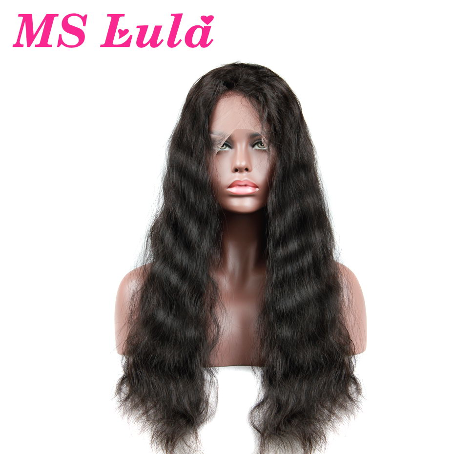 Ms lula Бразильский объемная волна 150% плотность Синтетические волосы на кружеве Парики Средний Размеры с ребенком волос человеческих волос Бе...
