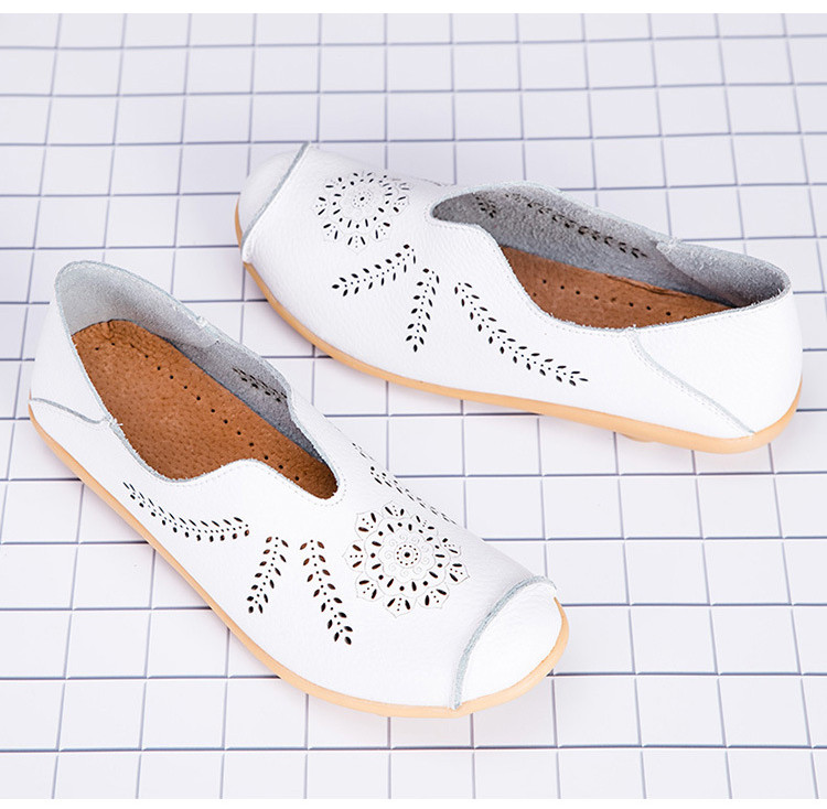 AH 1866-1-2019 Summer Women Loafers Genuine Leather Woman Shoes-3