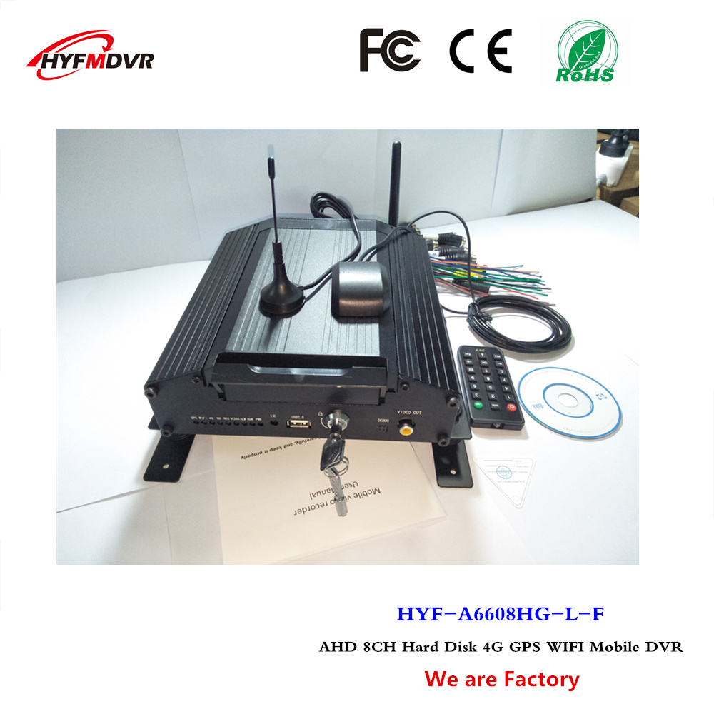 4G full CNC GPS WiFi mdvr 8 channel hard drive monitor video recorder taxi mobile DVR support Thailand language