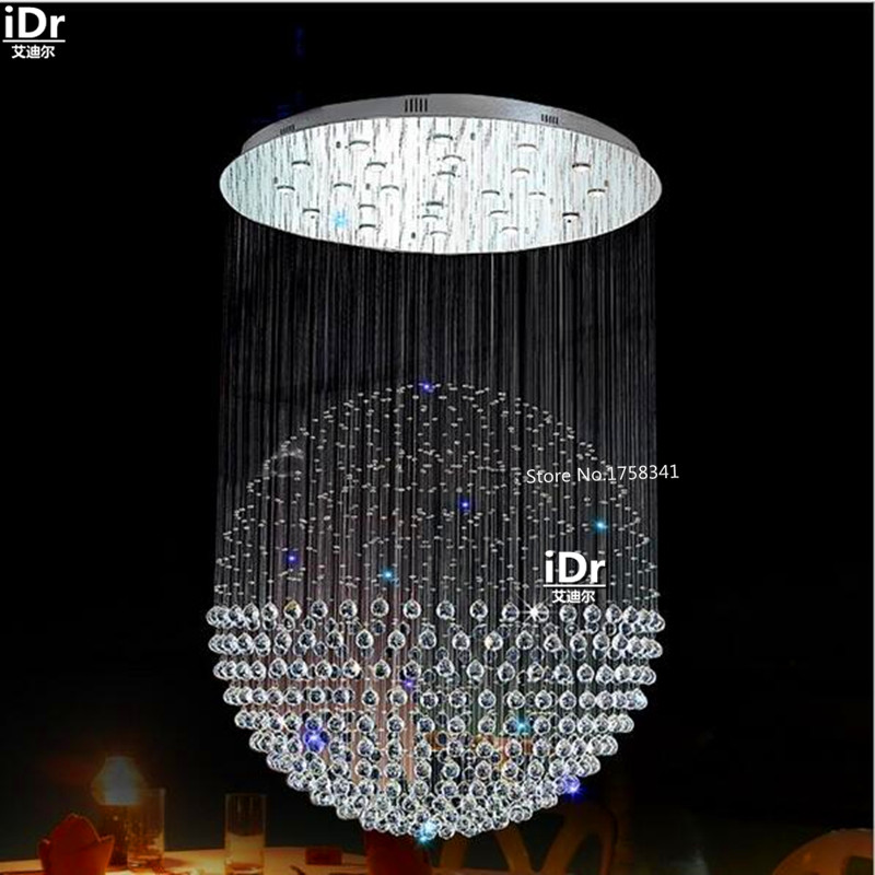 Simple and modern hanging wire hanging wire high quality crystal lamp restaurant lights living room lights Chandeliers