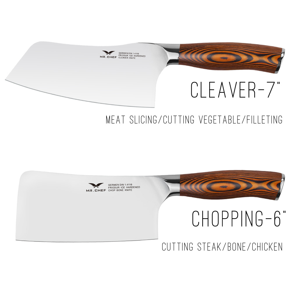 CHEF 2PCS/Set Professional Chinese Cleaver+Chopping Cooking Knives Heavy  Duty Kitchen Cutlery Big Wood Handle Very Sharp In Knife Sets From Home U0026  Garden On ...