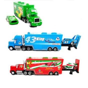 Pixar cars 2 # 95  43# 86# Mack truck Hauler + Diecast Meta small cars toys children xmas gift
