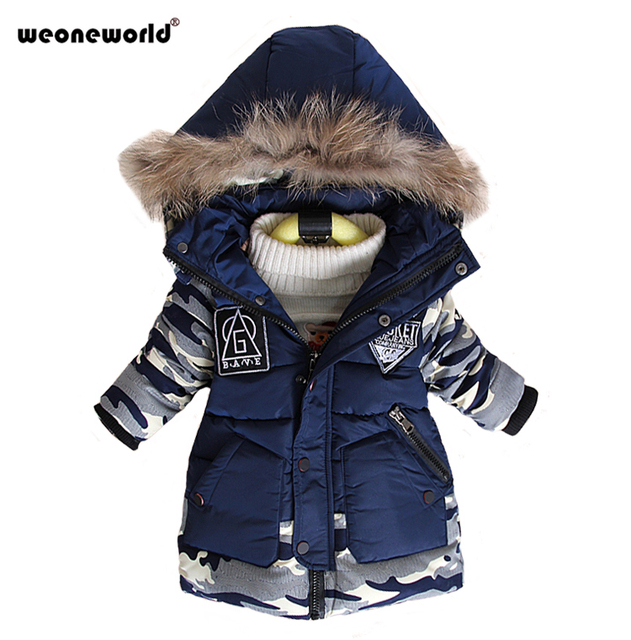 f9daa9d29ae4e Nowy Chłopcy Moda Childen Ciepłe Parki Kurtki Zimowe dla Chłopców Dół  Płaszcze Dzieci Dziecko Grube Bawełniane