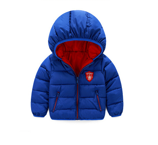 2016 new children's down jacket Boys and girls fashion warm coat Kids thick winter Outerwear Baby clothing for 1-5 years old new fashion kids baby girls boys short down jacket solid hooded jacket coat detachable cap coat outerwear for cold winter