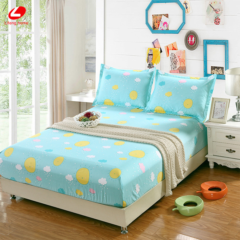 Home textile bed sheet sheet flower mattress cover printing bed sheet elastic rubber bedclothes 180*200cm summer bedspread band 50