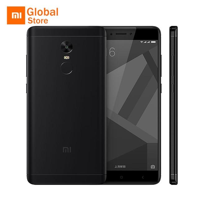 "Xiaomi Redmi Note 4x4x3 ГБ Оперативная память 32 ГБ Встроенная память мобильного телефона Snapdragon 625 Octa Core 5.5 ""FHD 4100 мАч Глобальный Встроенная память Miui 8 13.0MP Камера"