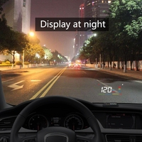 OBD2 Head Up Display Car Speed Projetor On The Windshield Projection HUD Auto A200 Digital Car Speedometer Safety Accessories