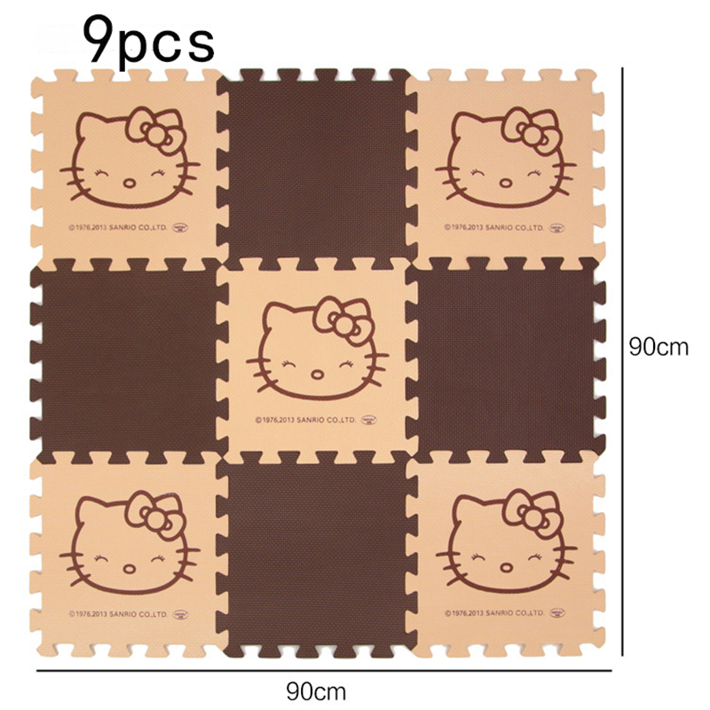 9Pcs/Set Eva Foam Puzzle Playmat Baby Toys Hello Kitty Crawling Gym Rug Cartoon Floor Play Mat Baby's Climb Blanket Game Carpet - aliexpress.com - imall.com