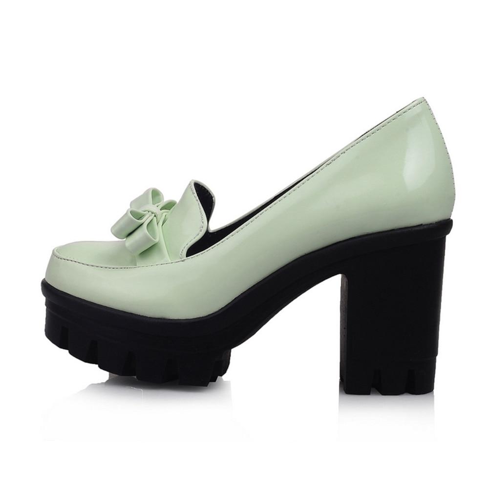 Taille Karinluna Haute De Pompes Mode 43 Femmes Femme Chaussures Grande 2018 Plate vert blanc 34 forme Talons Carré Noir qqwEFSrgn
