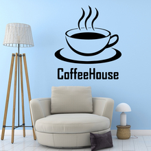 NEW coffee Home Decor Modern Acrylic Decoration vinyl Stickers Background Wall Art Decal