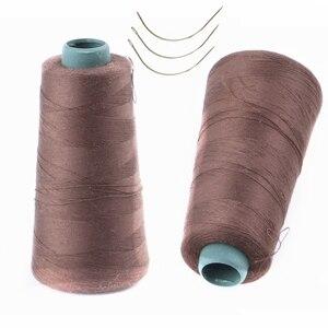 1 рулон хлопчатобумажная нить для плетения волос нить + подарок 3 шт 6 см C тип иглы швейные изогнутые иглы
