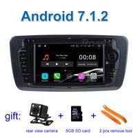 2 GB RAM 1024*600 Android 7.1.2 Araba DVD Oynatıcı GPS WiFi ile Koltuk Ibiza 2009-2013 için Bluetooth Radyo GPS