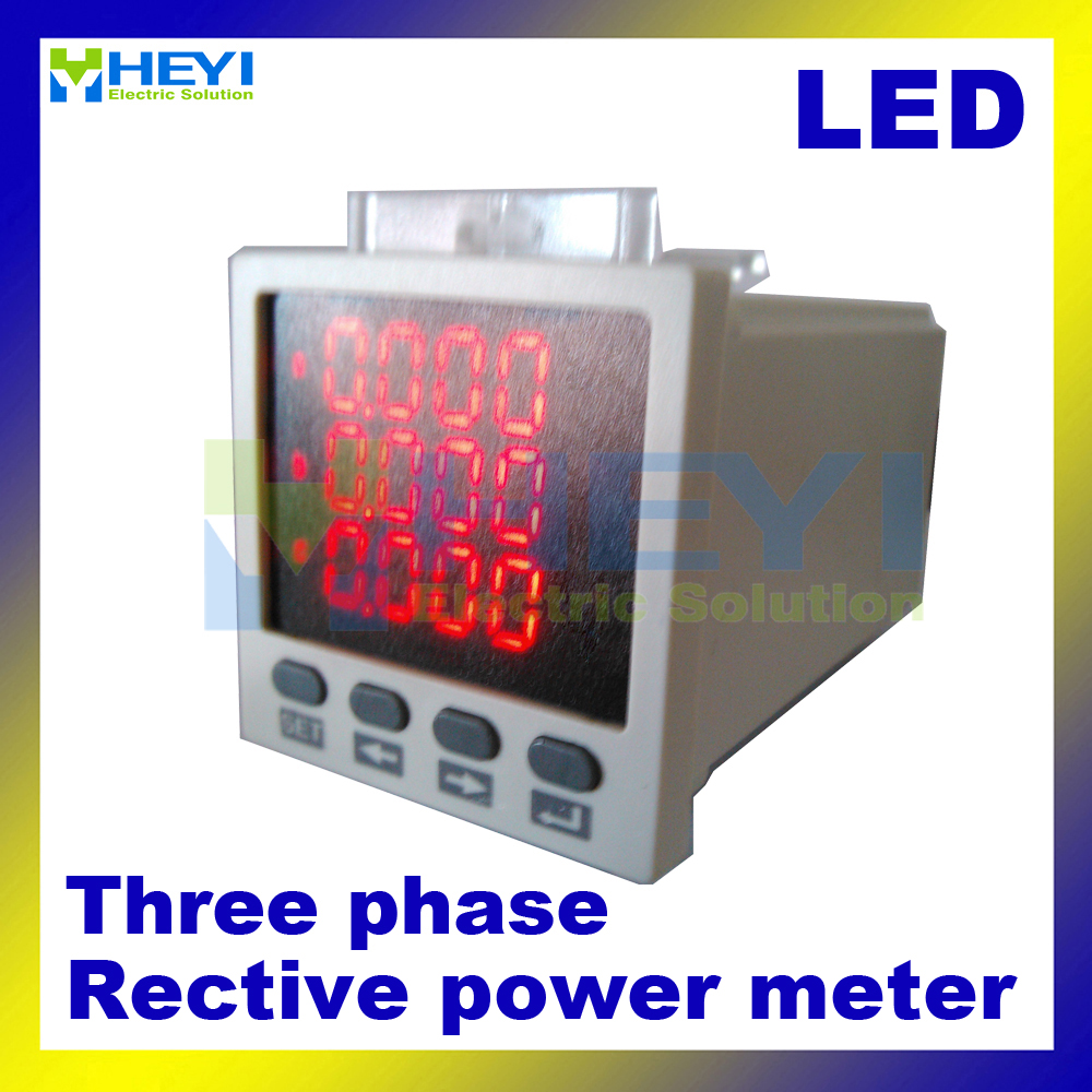 Digital reactive power meter 48*48 mm 3 phase panel meters HY-3Q power meter manufacturers 3q quba sp101m black