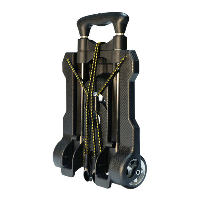 Folding Portable Trolley Mini Aluminum Alloy Luggage Family Travel Shopping Small Trolley Case Cart