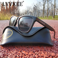 Lvvkee marca 2017 homens óculos de sol das mulheres preto grande design do quadro ray oculos desporto ao ar livre uv400 óculos de sol eyewear caixa original