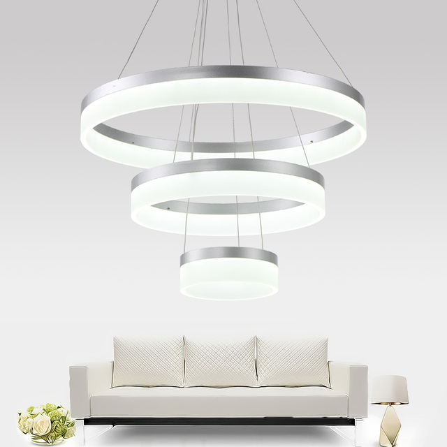 Moderne led salon salle manger lampes suspendues for Luminaire de salon moderne