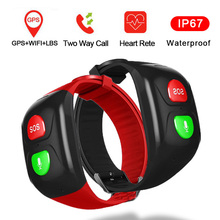 Смарт-часы для пожилых мужчин, gps+ wifi, безопасный трекер, браслет для женщин, пульсометр, браслет SOS, браслет для вызовов, водонепроницаемый, спортивный, Smartband