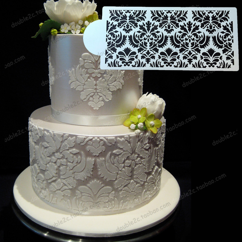 wedding cake stencil plastic stencil fondant lace mould decoration for wedding cake. Black Bedroom Furniture Sets. Home Design Ideas