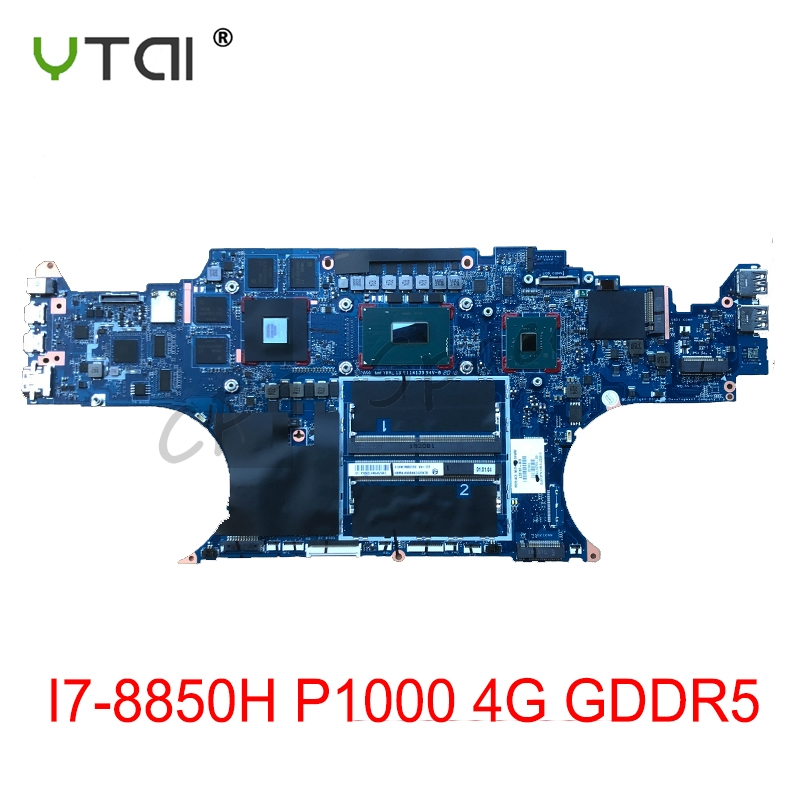 da0xw1mbai0-for-hp-zbook-studio-g5-laptop-motherboar-i7-8850h-p1000-4g-gddr5-l33161-001-100-tested-intact
