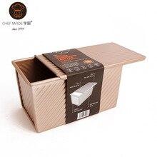 Große Größe Metall Antihaft-quadrat Kuchen Toast Zinn Backblech Mold Fondant Küche Backformen Muffin Loaf Pan CF011