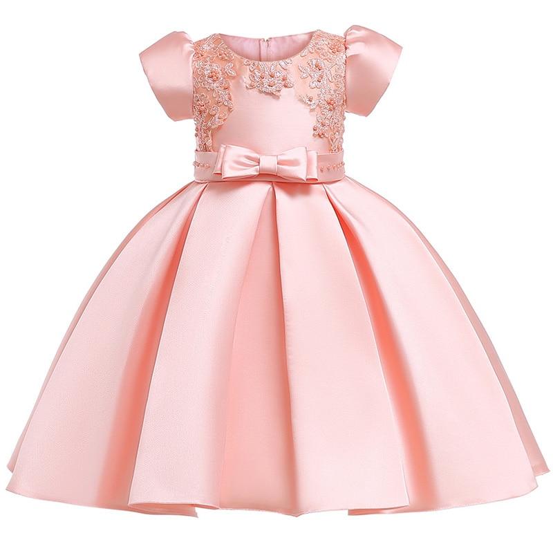 aaae7d69b9ae Infantil del la 8 llevando..bueno,. Comprar Verano niños vestidos para  niñas niños de encaje bordado vestido de princesa para niña 2 3 4 5 6 7 8 9  10 años ...