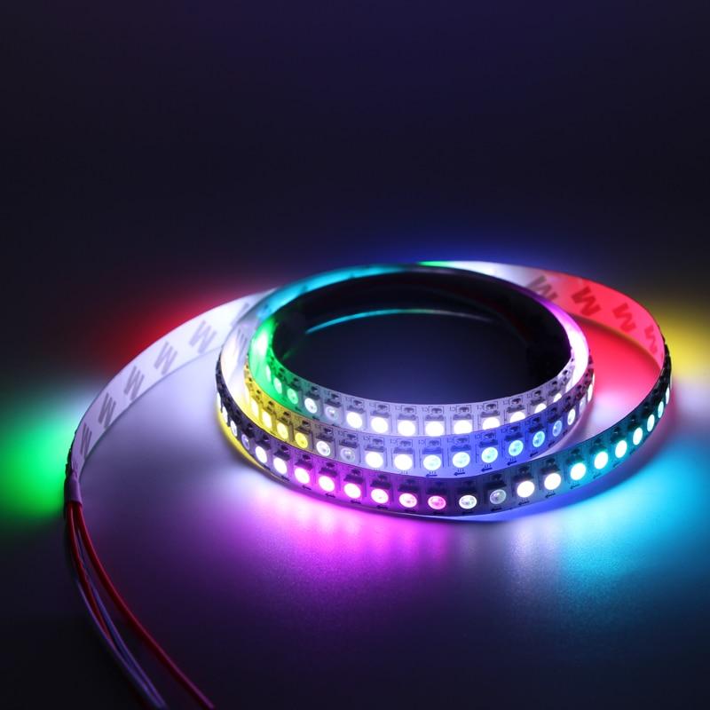 5m 5V WS2812B WS2812 Led Strip Light Individually Addressable Smart RGB Led Pixel Strips Black/White PCB Waterproof IP30/65/67