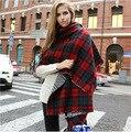 Европа и соединенные Штаты большой двухсторонний плед платок Осенью и зимой женщины шарф