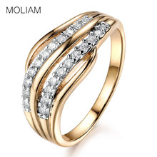 hot deal buy mloiam ladies rings fashion jewelry for women gold-color cubic zirconia crystal mid finger ring anillo 2017 hot sale mlr592