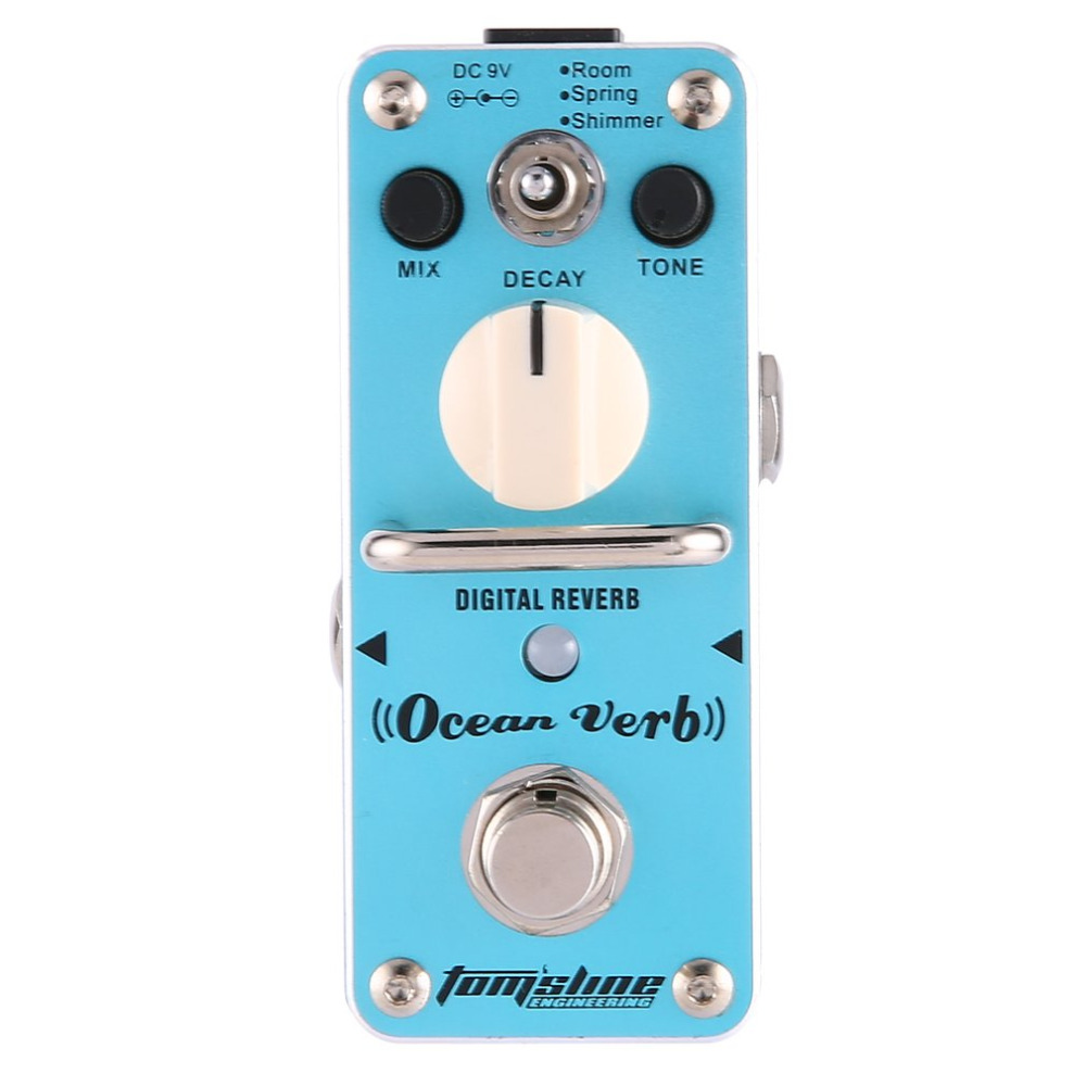 Aroma AOV-3 Ocean Verb Digital Reverb Electric Guitar Effect Pedal Guitar Equalizer True Bypass Single Guitar Accessories aroma aov 3 ocean verb digital reverb electric guitar effect pedal mini single effect with true bypass guitar parts