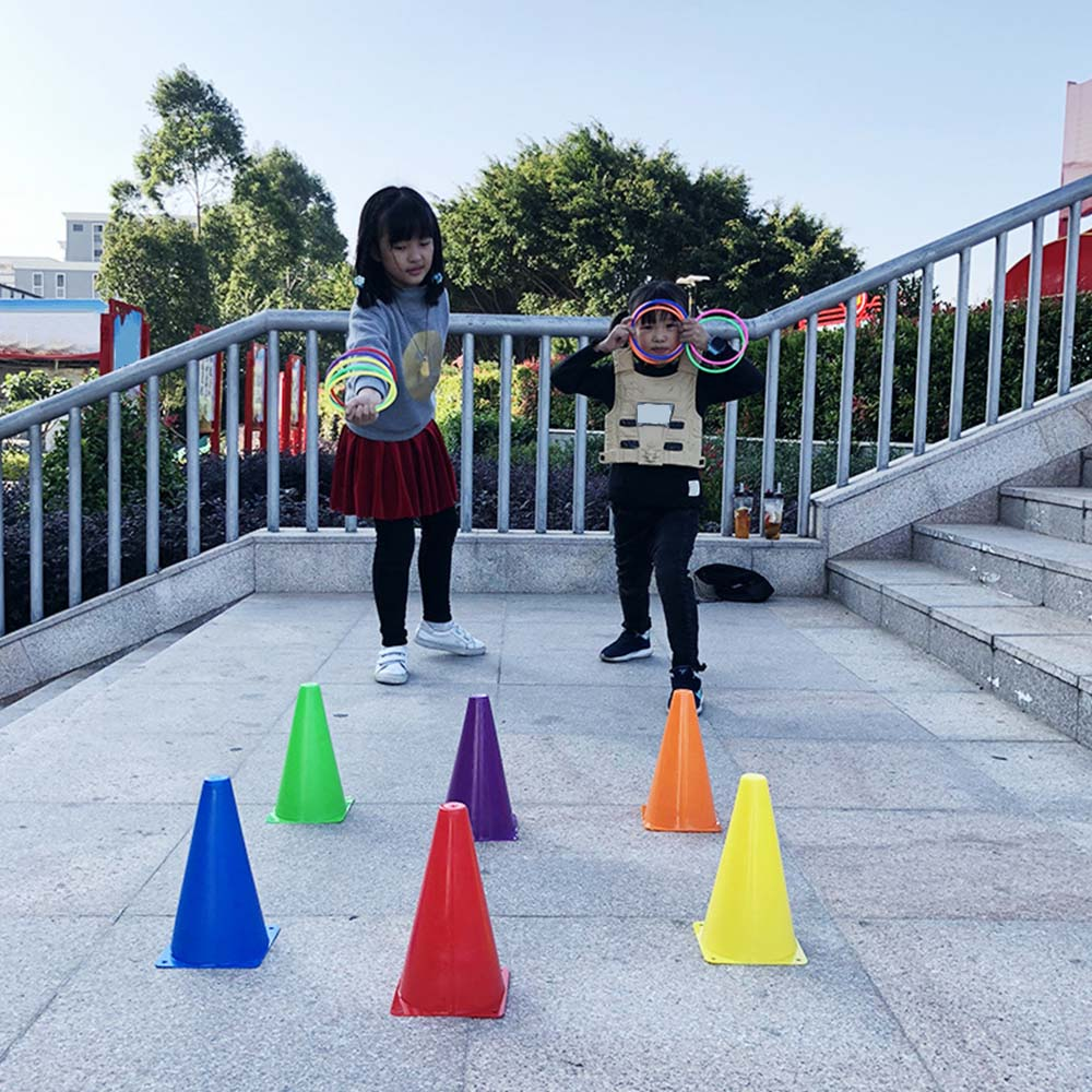 New Arrival Circle Toy Set Parent-child Game Throw Hoop Music Cup Rainbow Tower Puzzle Toy Outdoor Throwing Plastic Ring
