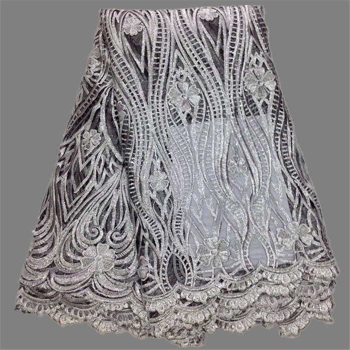 Fashion gole thread African party mesh cloth French net lace fabric for sewing GN70(5yards/lot) multi color