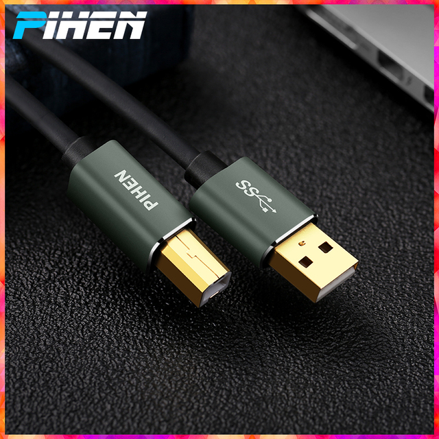US $0 94 5% OFF|USB Printer Cable for HP Canon Epson Printer Machine  Extension Cable AM BM Square Mouth Connect to Laptop Desktop for  Chromebook-in