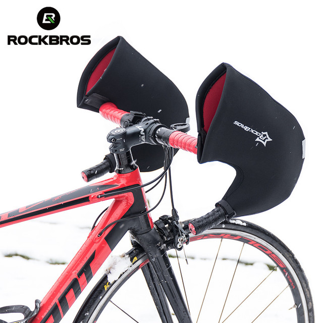 ROCKBROS Bike Bar Mitts Gloves Cold Weather MTB Road Bicycle Handlebar Mittens Cycling Winter Thermal Cover Internally Gloves