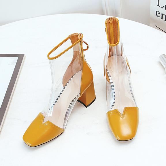 Transparent Boots 2018 New Spring and Autumn Season European and American lacquer leather back zipper shoes.Transparent Boots 2018 New Spring and Autumn Season European and American lacquer leather back zipper shoes.