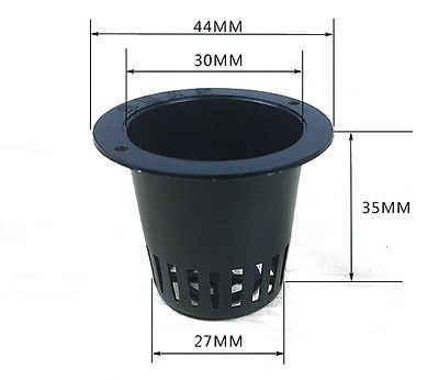 5 Pçs/lote Aquático Malha Net Cesta Pote Plástico Redondo Para Plantas Da Lagoa de Água 4.4*3.5 cm