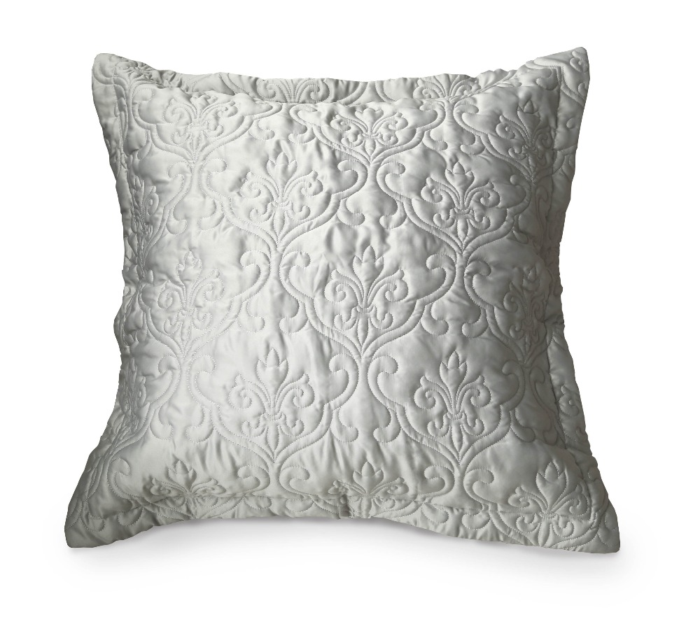 faux silkcotton euro shams bedding pillow cover decorative european pillowcase grey