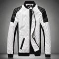 Мужская кожаная куртка пилот chaqueta cuero de байкер Куртки большой размер пальто черный белый 5XL 6XL дери ceket искусственной кожи мужской верхней одежды