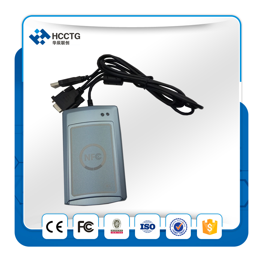 RS232+ USB Contactless Smart Card/Tags NFC Reader and Writer 13.56MHZ RF Support all 4 t ...