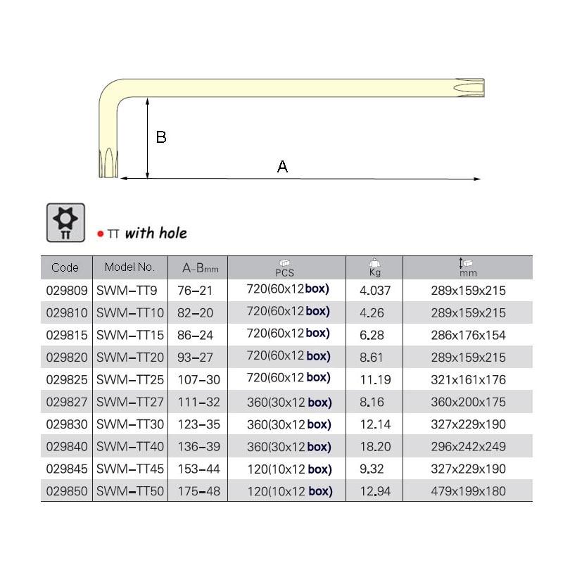 Jetech 1db hosszú szabotázsbiztos chave torx key star meghajtó - Kézi szerszámok - Fénykép 2
