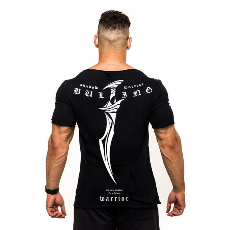 Men's Short-sleeved Sports Fitness T-shirt 2019 Summer New Quick-drying Round Neck Fitness Sports T-shirt Men's Running Training