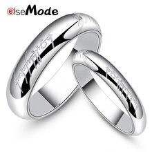 ELSEMODE, 4 мм,, новинка, нержавеющая сталь, одно кольцо силы, Властелин одного, кольцо для влюбленных женщин и мужчин, модное ювелирное изделие
