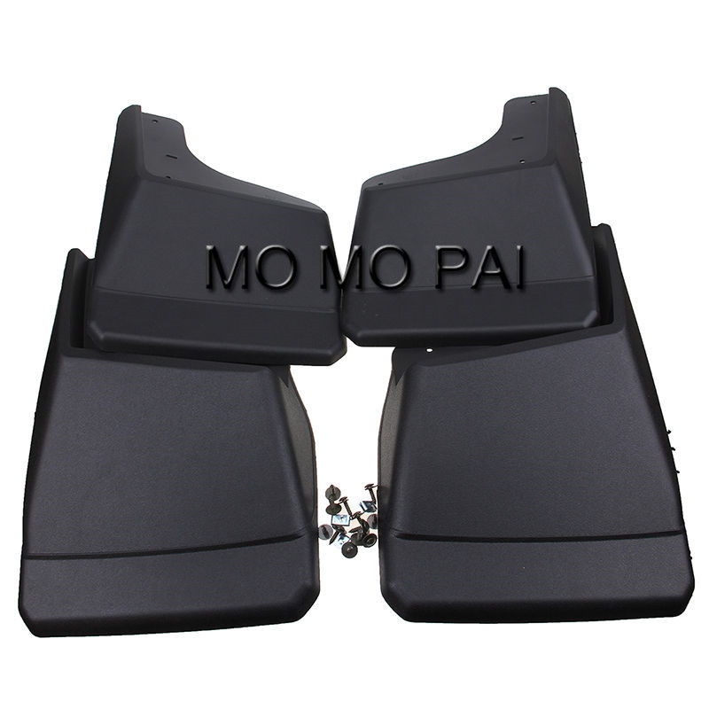 Car fender FIT  FOR HUMMER H2 MUD FLAP SPLASH GUARD MUDGUARD BLACK FRONT+REAR COMBO FENDER 4PCS / Set MO MO PAI fit for jeep patriot deluxe molded mudflaps mud flap splash guard mudguards set free shipping