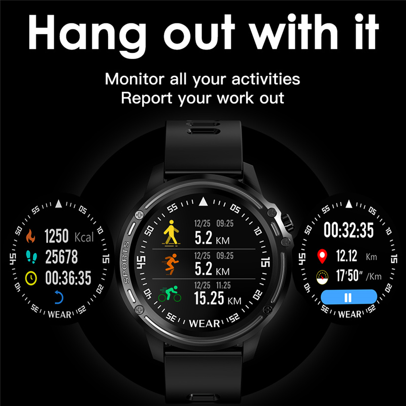 cheapest L8 Smart Watch Men IP68 Waterproof Reloj Hombre Mode SmartWatch With ECG PPG Blood Pressure Heart Rate sports fitness watches