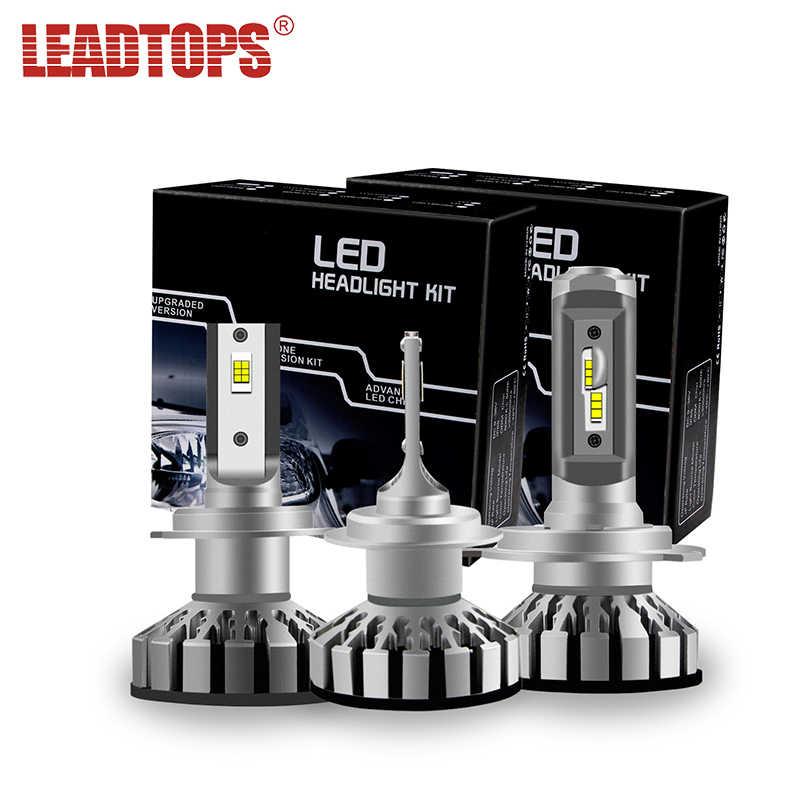 LEADTOPS 2pcs Mini H4 LED Headlights 50w Car Headlamps H11 H3 9005/HB3 9006/HB4 9012 Cars LED :ightin Replace Bulbs 12000LM 12V