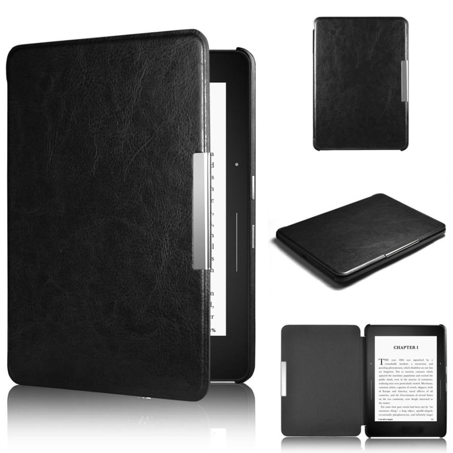 2017 Universal Magnetic Auto Sleep PU Leather Cover Case for Amazon Kindle Paperwhite 1 2 Tablet cover Black kindle paperwhite 1 2 3 case e book cover 2017 magnetic pu leather smart case for kindle paperwhite 3 cover 6 auto sleep wake