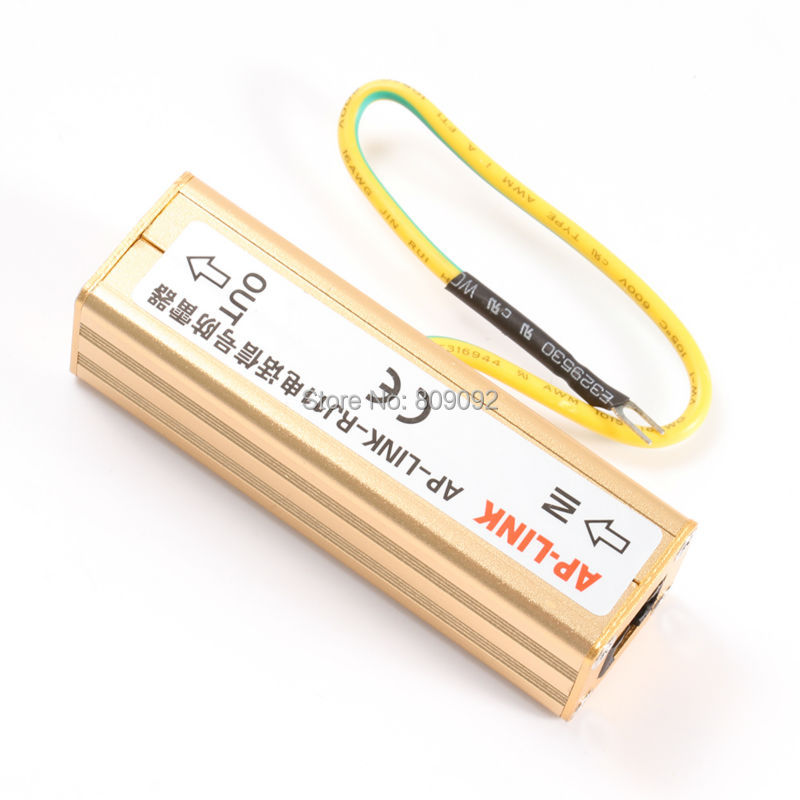 Surge Protective Telephone Lightning Protector Protection Arrestor RJ11 Gold