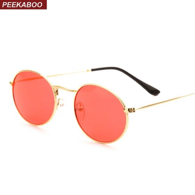 Peekaboo pequeno oval óculos de sol das mulheres azul amarelo vermelho  verde uv400 óculos de lente ffbc5be3cf