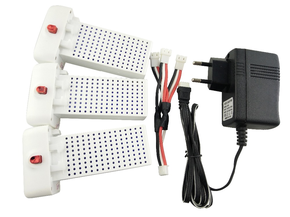 3PCS lithium battery and European regulators with 1 care 3 conversion cable for SYMA X8SW X8SC remote control helicopter battery 3pcs battery and european regulation charger with 1 cable 3 line for mjx b3 helicopter 7 4v 1800mah 25c aircraft parts xt30