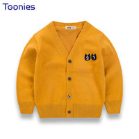 Children Cardigan Long Sleeve Girls Sweaters Newest Design Kids Sweater Cute Print Knit Teenager Coat High